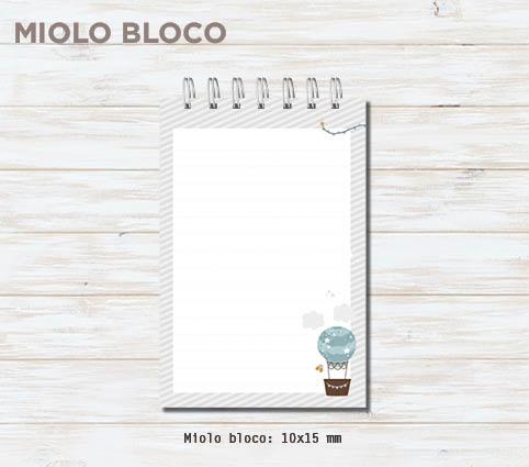 """Conjunto caderno + bloco """"Diário do Bebê"""" - Ursinhas"""