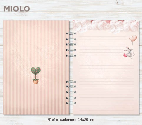 Conjunto caderno + bloco #vaiteramor
