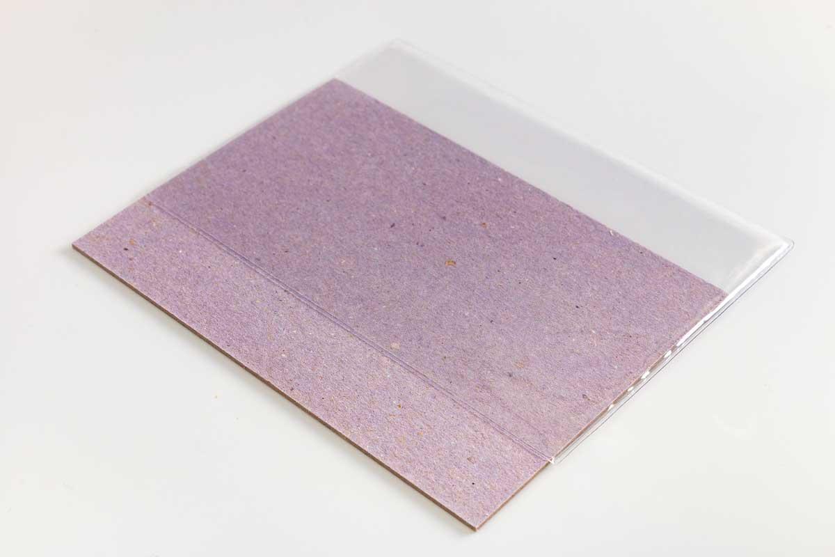 Capa com luva para agenda pequena (10,5 x 14,8 cm)