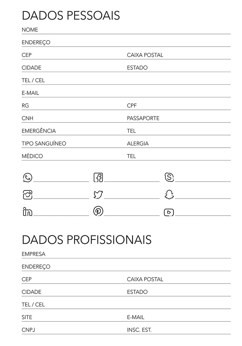 MIOLO AGENDA 2021 - 14x20 cm