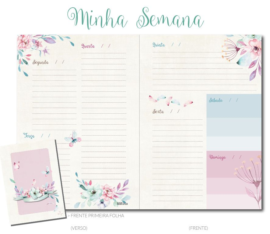MIOLO MINHA SEMANA . 60 folhas