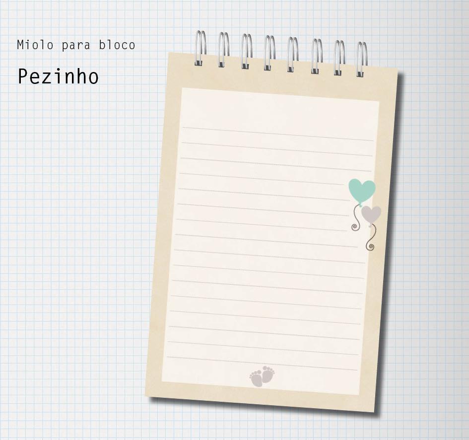 Miolo para bloco PEZINHO