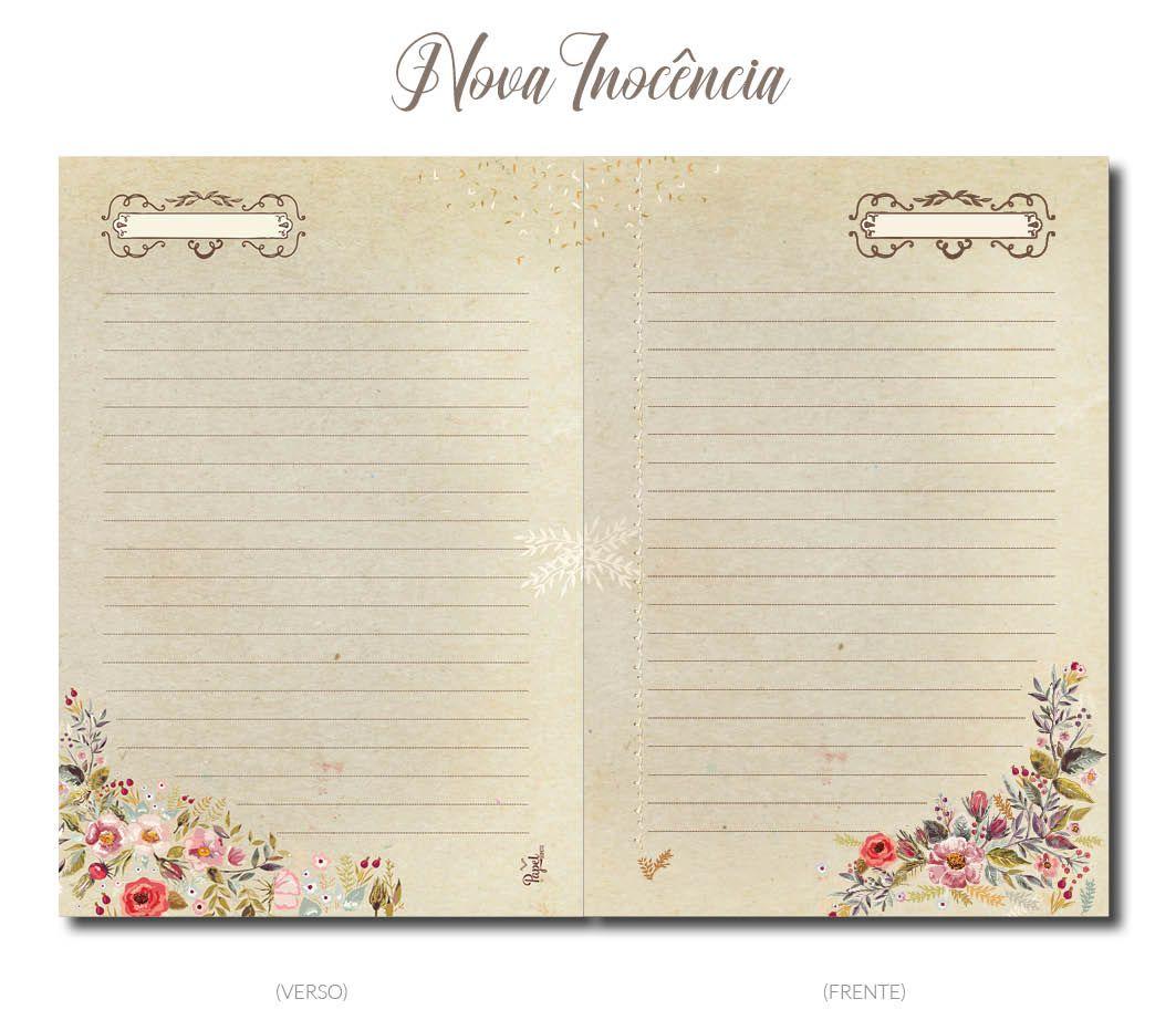Miolo para caderno NOVA INOCÊNCIA