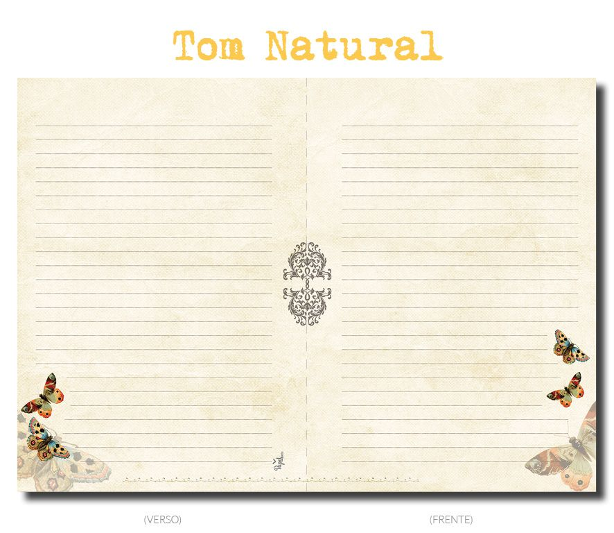 Miolo para caderno TOM NATURAL