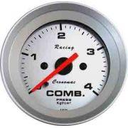 Manômetro Pressão Combustível 52mm Cronomac  Racing  0 - 4kg