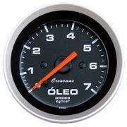 Manômetro Pressão Óleo Cronomac 52mm 0 -7 kg Sport