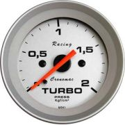 Manômetro Pressão Turbo  52mm Cronomac  Racing  2 kg