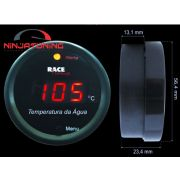 Medidor Temperatura Água Motor  Digital 52mm Racetronix + sensor