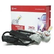 PAR LÂMPADA SUPER LED 7400 LUMENS 12V 24V 40W CINOY 3D HB4 9006 6000K