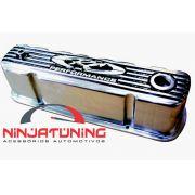 Tampa de Válvulas para Opala 4cc Race chrome - Alumínio Polido