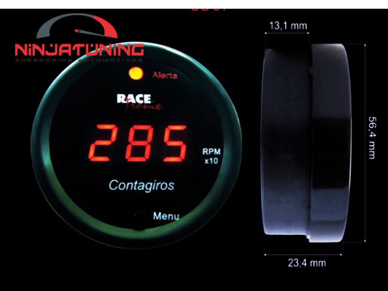 Contagiros Digital Programável 52mm Racetronix