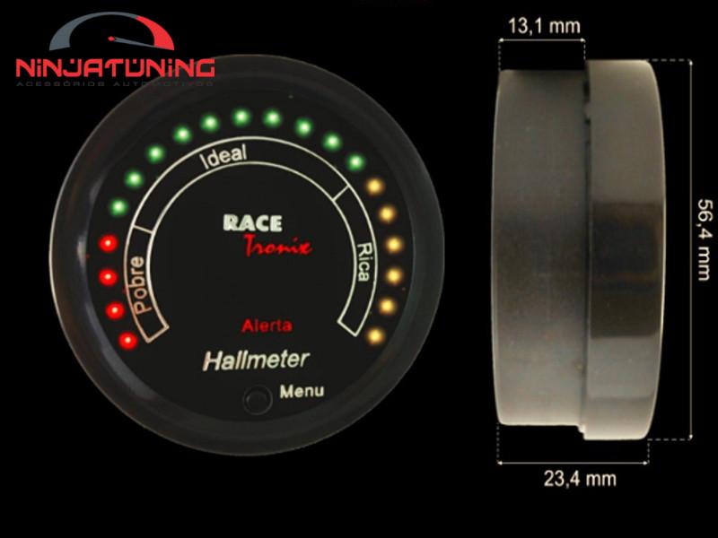 Hallmeter Digiltal com Leds Racetronix Programável