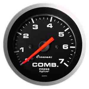 Manômetro Pressão Combustível 52mm Cronomac  Sport  0 - 7kg
