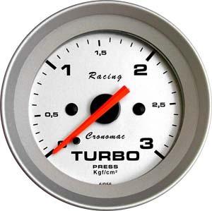 Manômetro Pressão Turbo  52mm Cronomac  Racing  3 kg