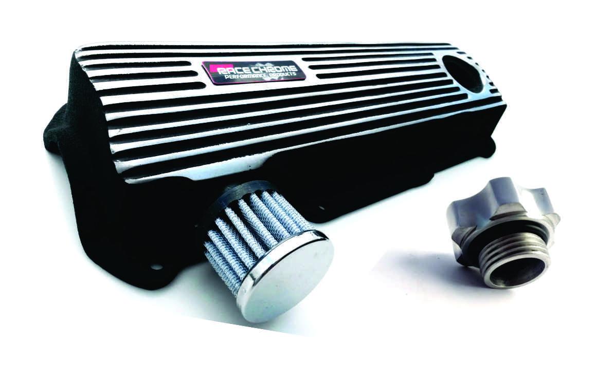 Tampa de Válvulas para Motor AP - 1.6 , 1.8 e 2.0 - Preto  com aletas