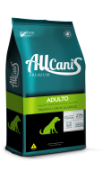 Ração Allcanis Premium Frango, Carne e Arroz 15 kg