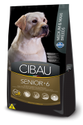Ração Cibau Medium & Maxi Senior 6+ Para Cães Adultos De Raças Médias e Grandes 12 k