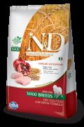Ração N&D Cereais Ancestral Grain Adult Maxi Breads Frango e Romã 10.1 k