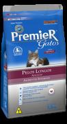 Ração Premier Gatos Ambientes Internos Pelos Longos adulto Frango 7.5kg