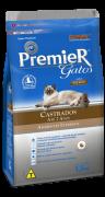 Ração Premier Gatos Castrados Salmão Ambientes internos até 7 anos 7.5kg
