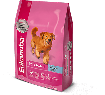 Ração Eukanuba de raças grandes Light para cães adultos 12 k