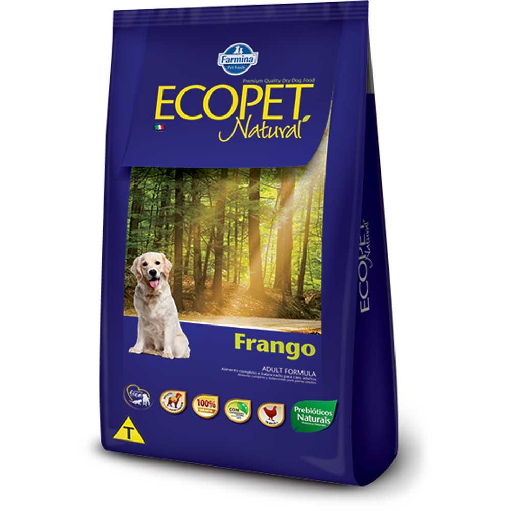 Ração Farmina Ecopet Natural para Cães Adultos de Raças Pequenas Sabor Frango 15 k