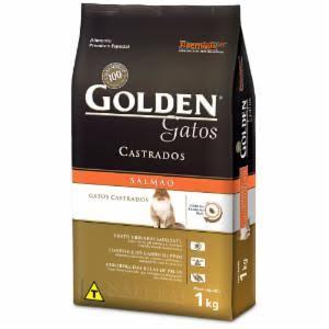 Ração Golden para Gatos Adultos Castrados Sabor Salmão - 10,1Kg