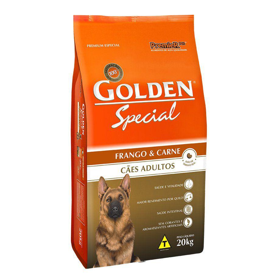 Ração Golden Special para Cães Adultos Sabor Frango e Carne 20 K