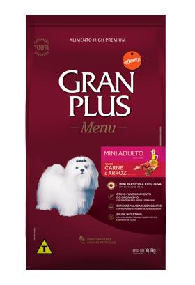 Ração Granplus Adulto Mini sabor Carne & Arroz 15k
