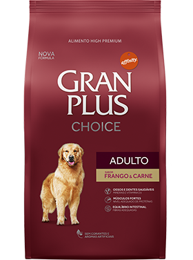 Ração Granplus Choice Adulto Sabor Frango e Carne  15k