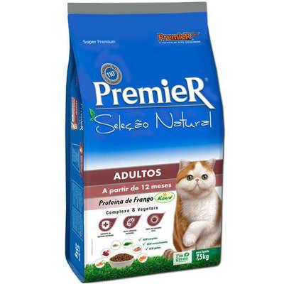 Ração Premier Gatos Seleção Natural acima de 12 meses 7.5 kg