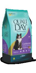 Ração Qualiday Gatos Castrados Carne 10.1k