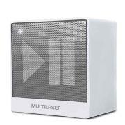 Caixa de Som Mini Aux 8W Bluetooth Branca Multilaser Sp278