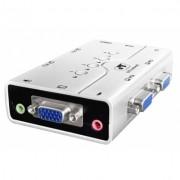 Chaveador KVM CPU Switch 4 Portas com Áudio GTS