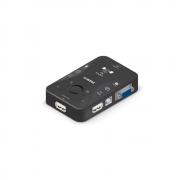 KVM switch 2 portas com cabos COMTAC USB 9250