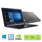 Notebook Acer A515-51G-50W8 - Preto - Intel Core i5-7200U - Geforce 940MX - RAM 8GB - HD 2TB - Tela 15.6