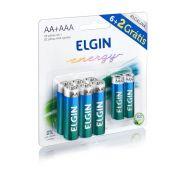 Pilhas Alcalina 6AA  + 2AAA Pilhas Aaa Elgin