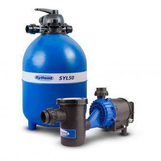 Conjunto Filtro até 72 Mil Litros -  SYL50 + Bomba com Pré-Filtro para Piscina 3/4Cv - 220V