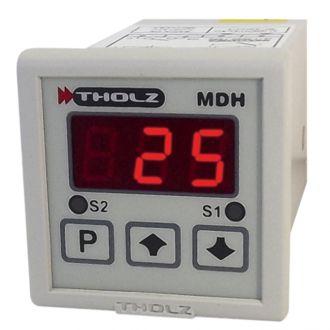 Controlador de Temperatura - MDH368N 90~240Vca P299 - 2 Saídas: Relé 5A, entrada de sensor configurável J, K e PT100