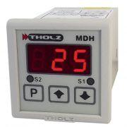 Controlador de Temperatura - MDH370N 90~240Vca P299 - 2 Saídas: Relé 5A e Tensão 12V, entrada de sensor configurável J, K e PT100