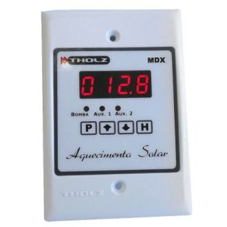 Controlador Diferencial de Temperatura - MDX561R - 90~240VCA - P474 - Três saídas de relé: bomba, auxiliar 1 e auxiliar 2