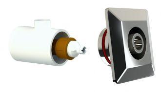 Dispositivo de Hidromassagem Quadrado Inox - Alvenaria - Tholz