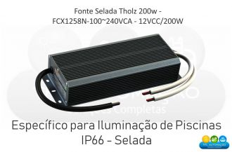 Fonte Selada Tholz - Fcx1258N-100~240vca - 12vcc/200w