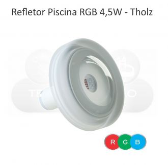 Módulo RGB c/ Controle Touch + 8 - Power LED RGB - Piscina - 4,5W - Cabo 2M