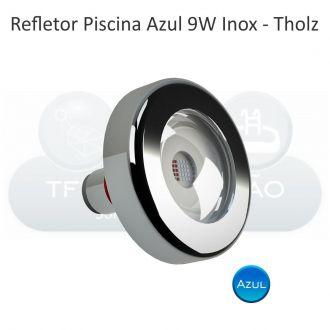 Refletor LED Azul - Cabo 10M - 9w