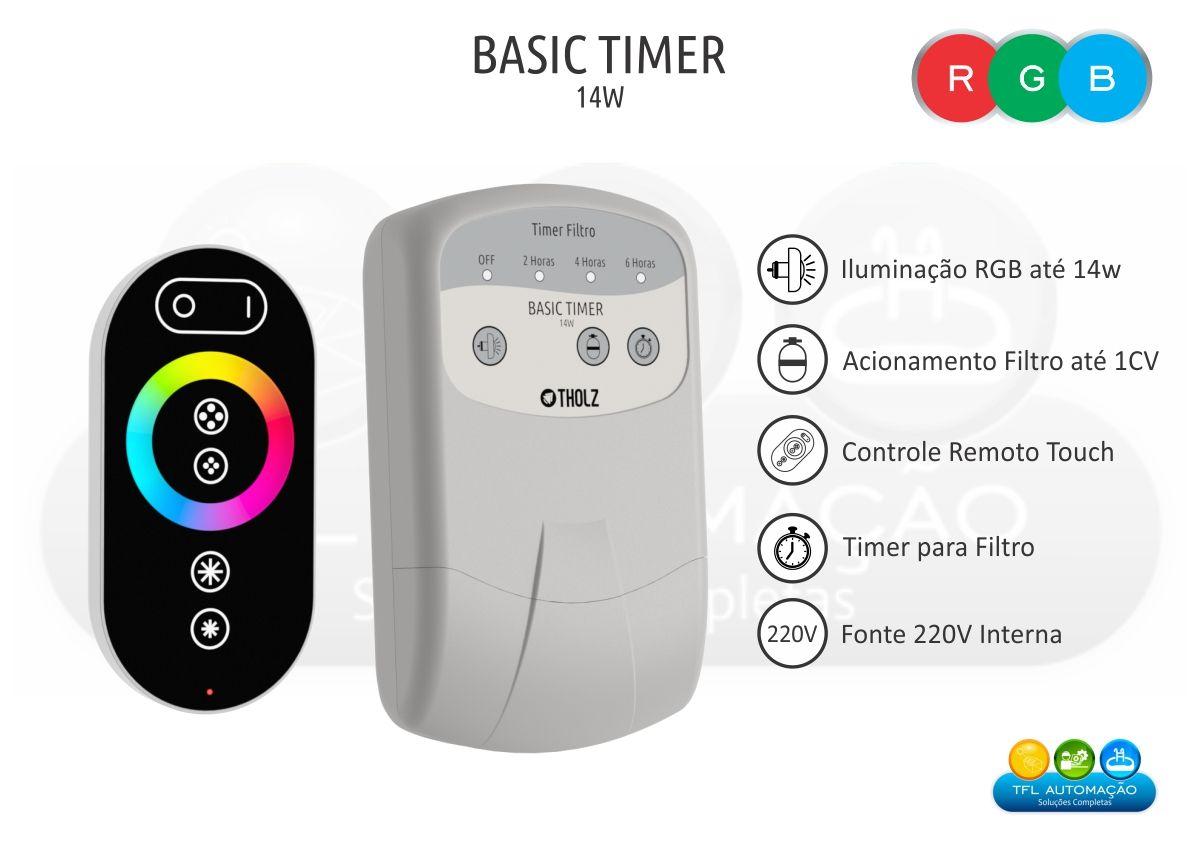 Basic Timer 14w c/ Timer p/ Filtro - 220vca - Tholz