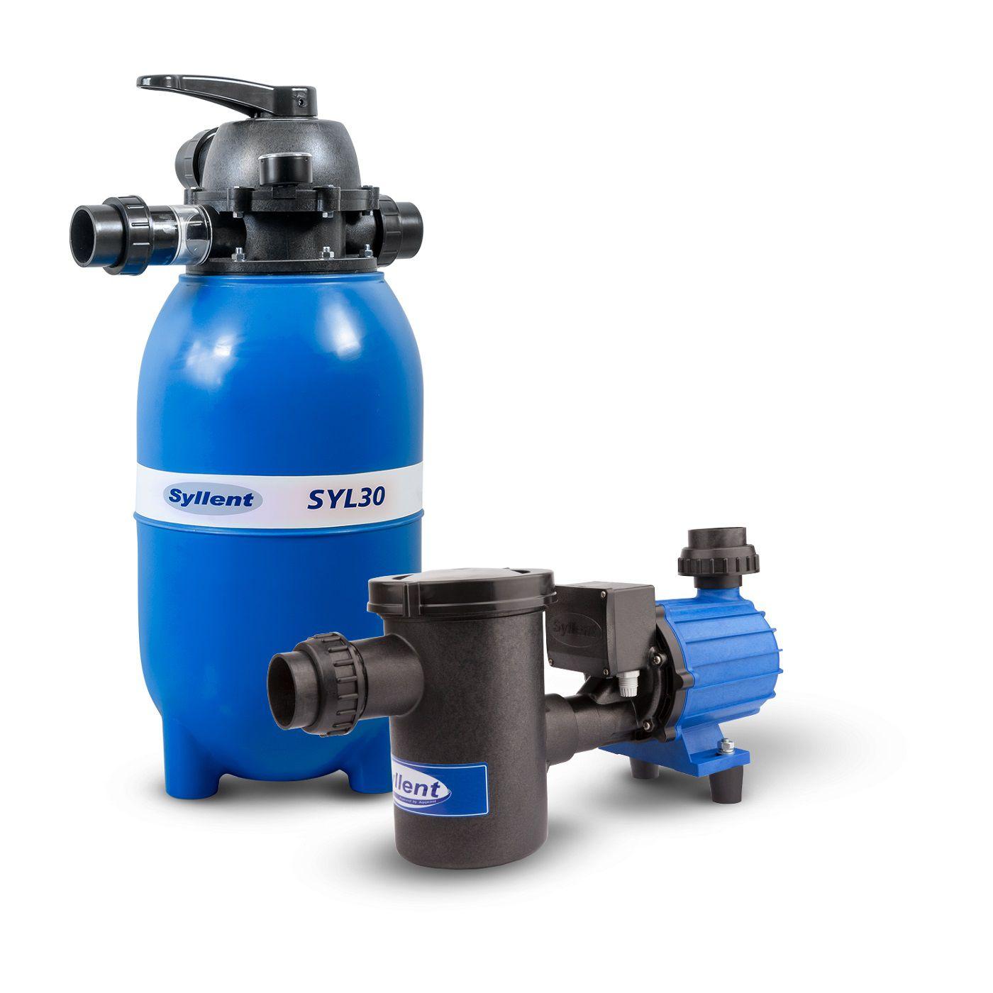 Conjunto até 32 Mil Litros -  Filtro SYL30 + Bomba com Pré-Filtro para Piscina 1/3Cv - 220V