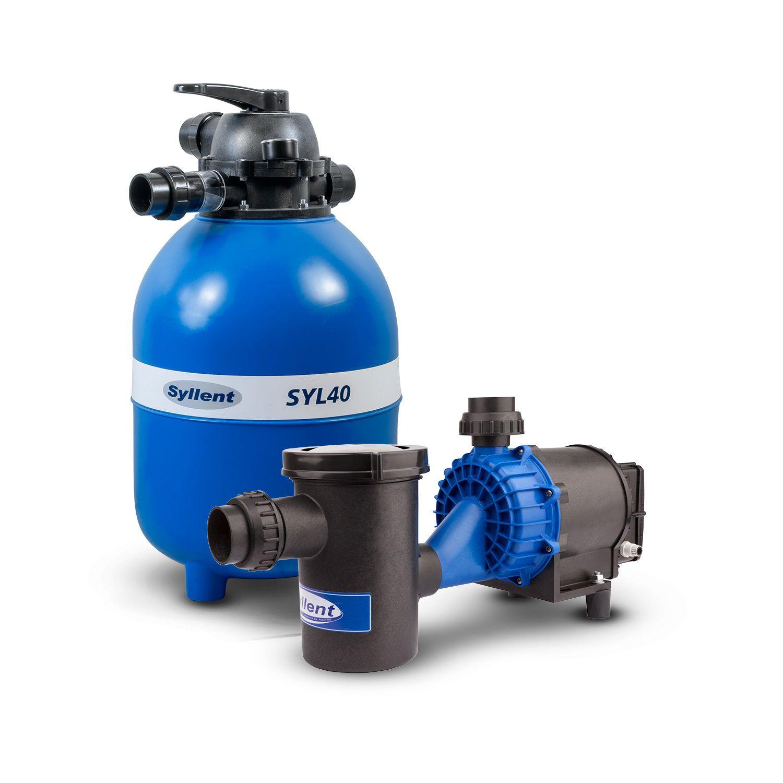 Conjunto até 48 Mil Litros - Filtro SYL40 + Bomba com Pré-Filtro para Piscina 1/2Cv - 220V