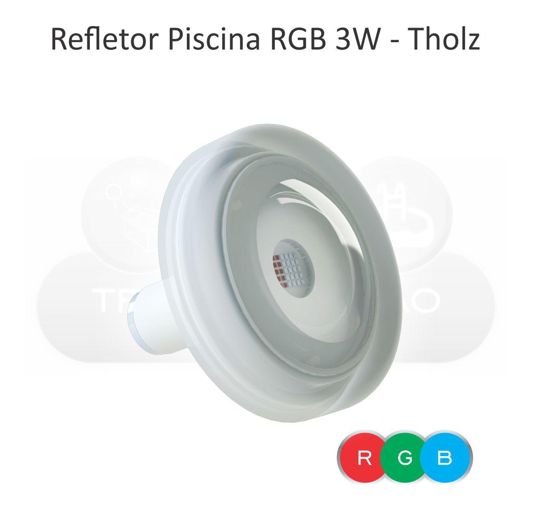 Kit Iluminação Piscina Fibra - Basic Pool Tholz - 4 Leds