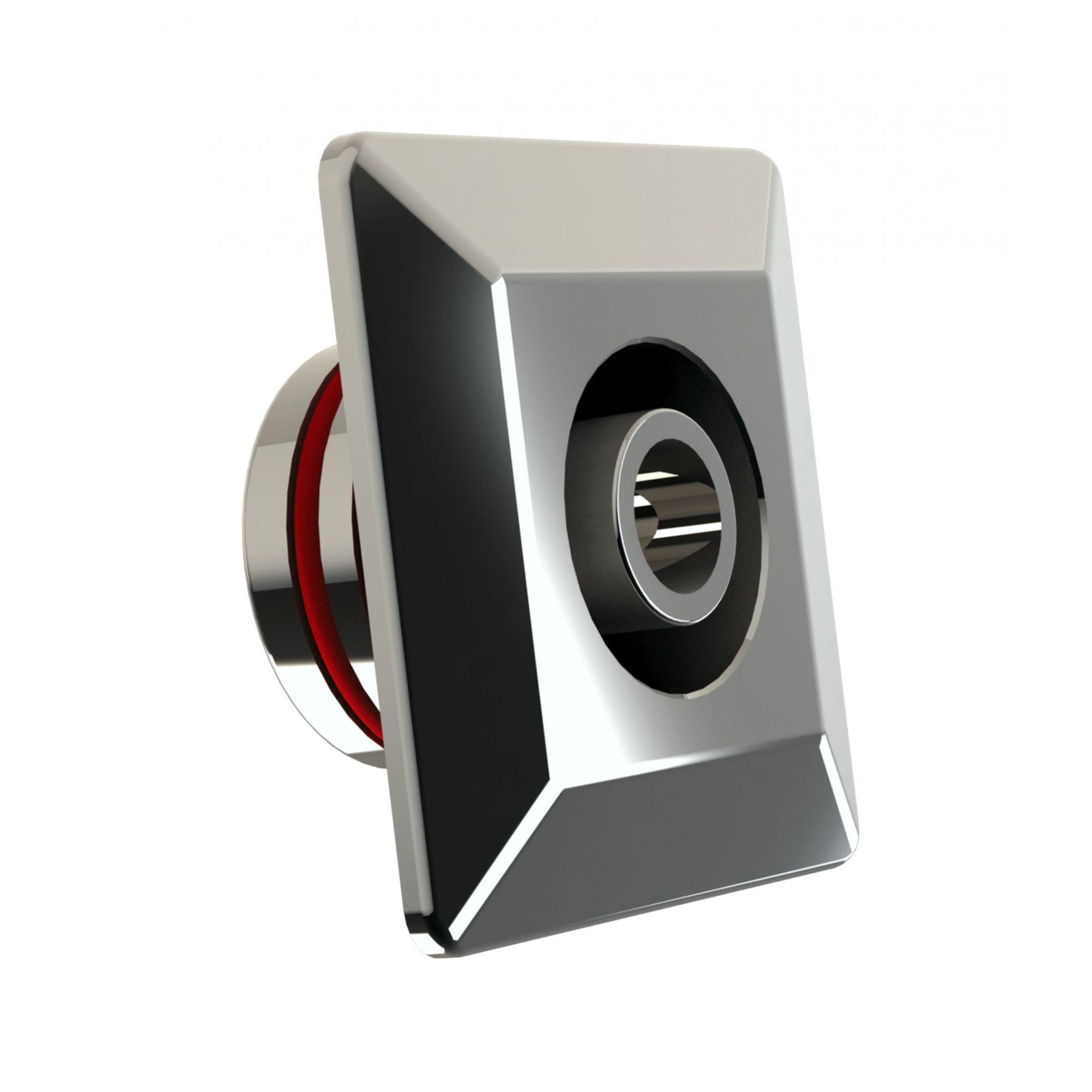 Dispositivo de Retorno Ajustável Quadrado Inox - Alvenaria - Tholz